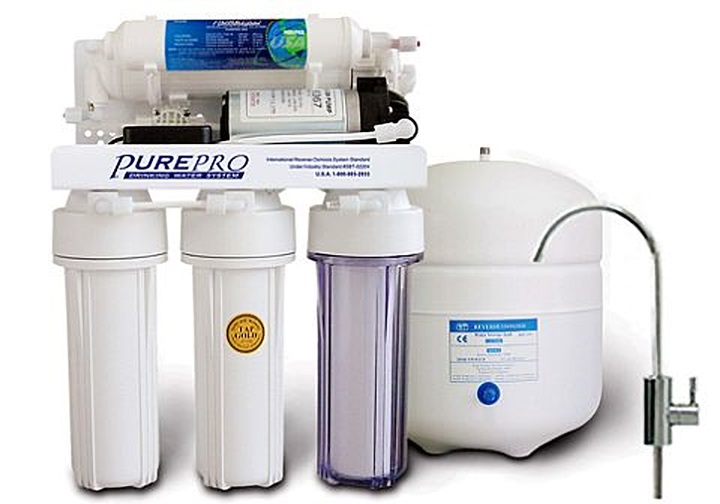 PurePro RO -EC 105 P ozmózis víztisztító nyomásfokozó szivattyúval